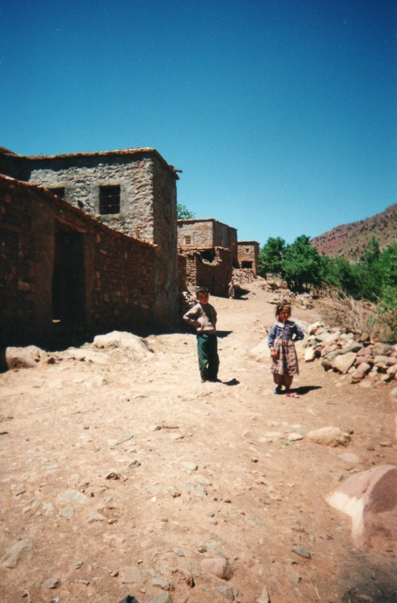 Berber children living in the mountains