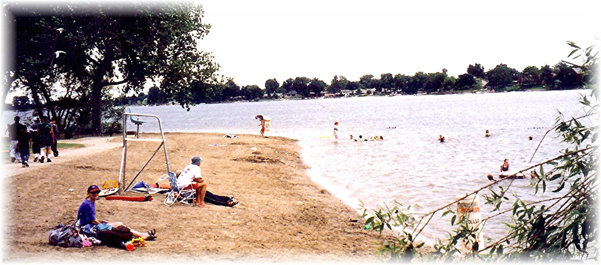 Partial view of Loveland Lake