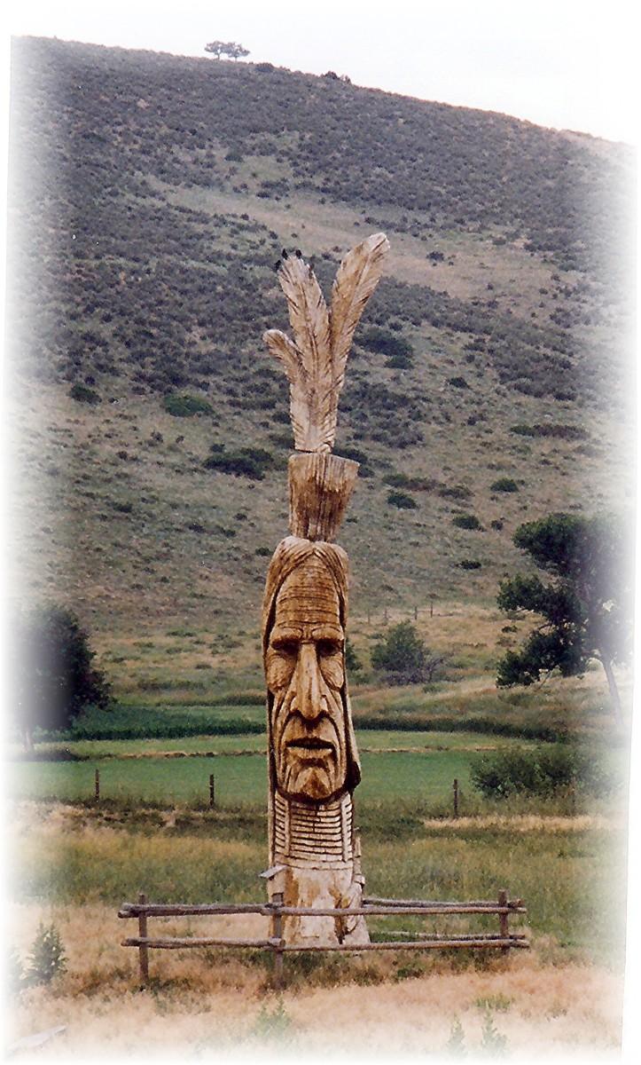 Signature sculpture seen outside of Loveland, Colorado