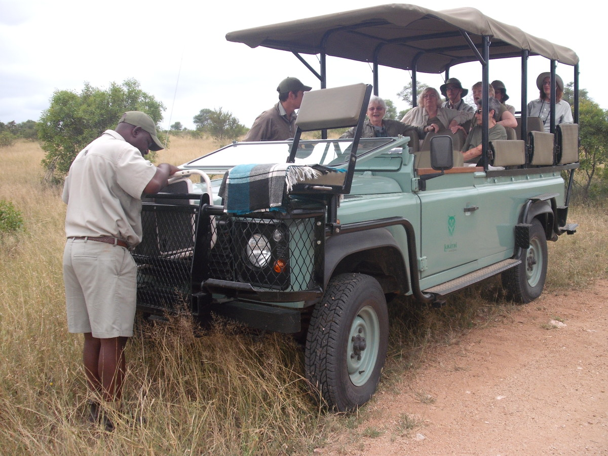 Typical 4x4 open vehicle for game viewing