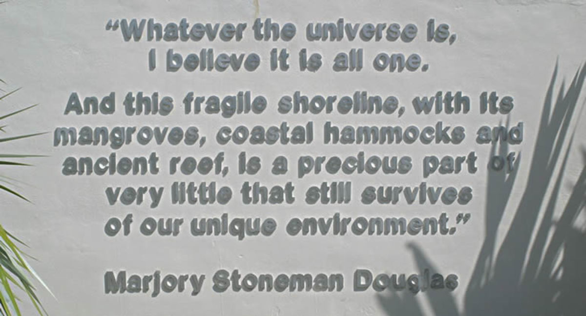 Marjorie Stoneman Douglas quote at Biscayne Nature Center