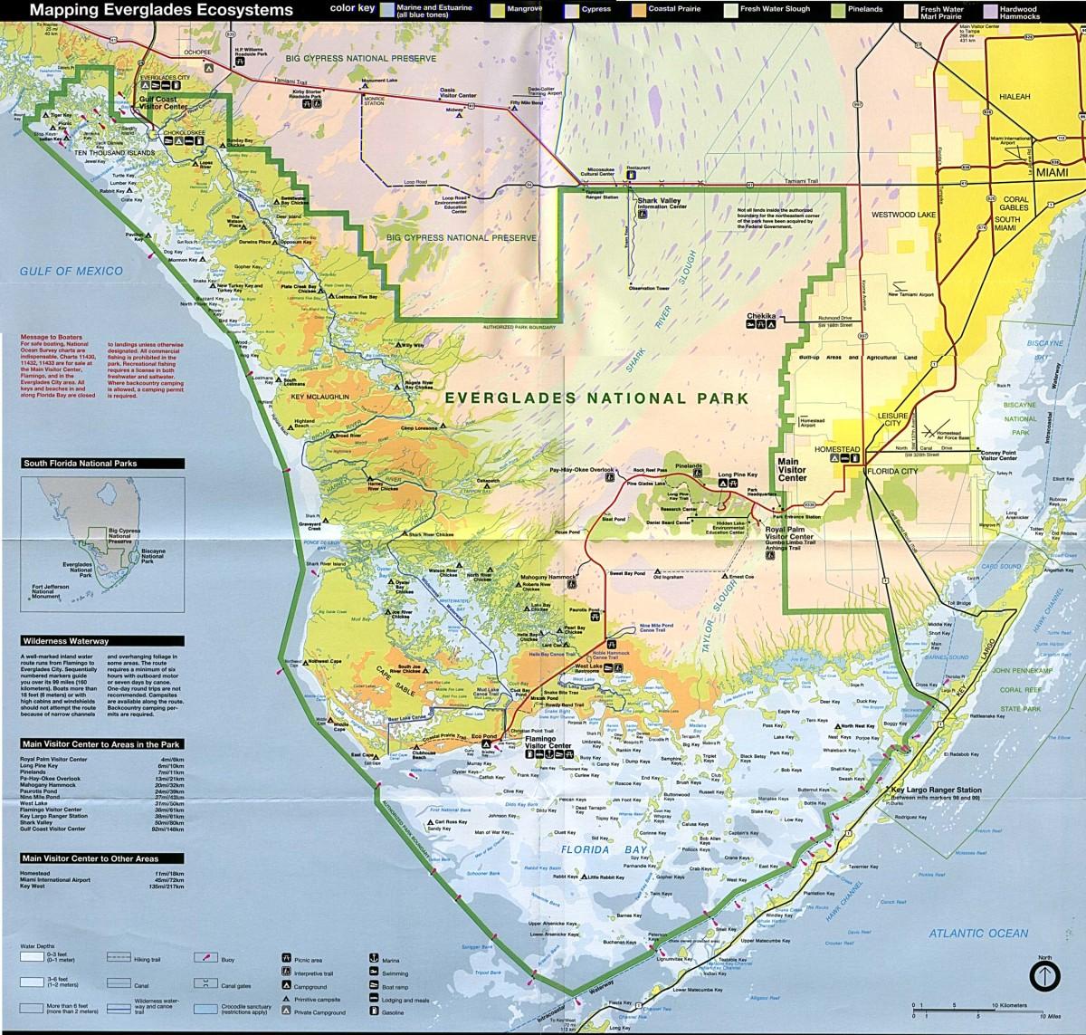 map of Everglades National Park