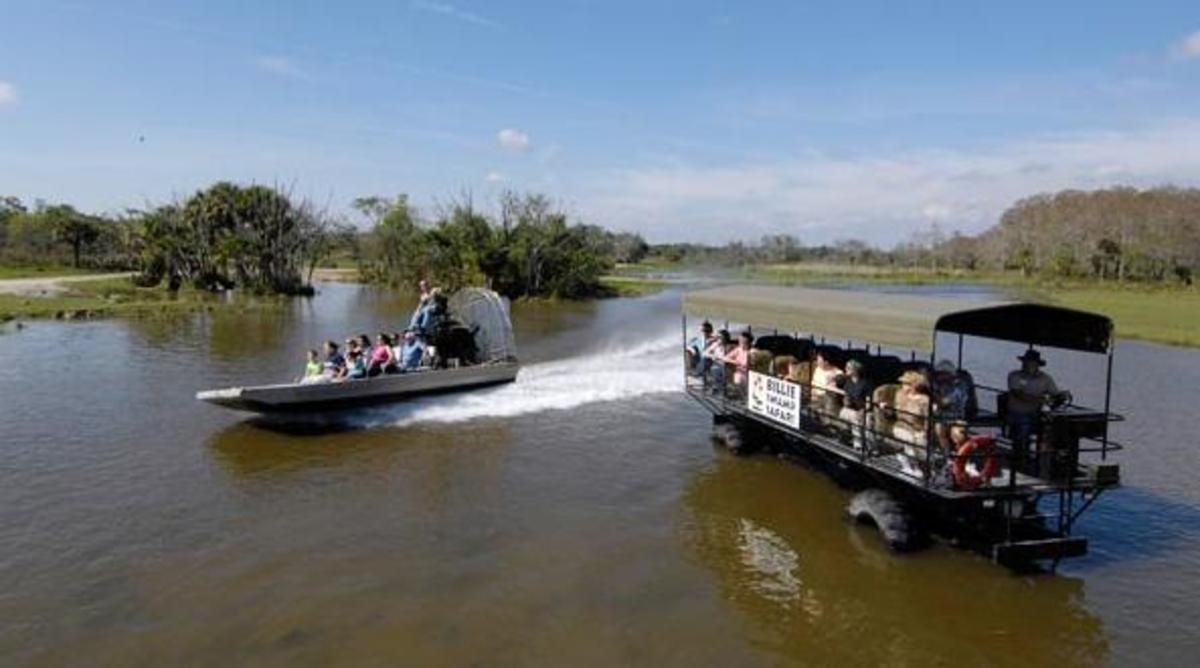 """swamp buggie"" and air boat"