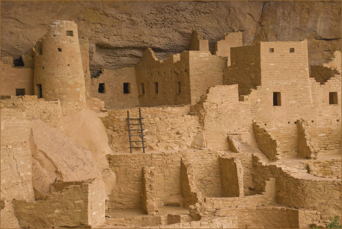 Cliff Palace is the largest of the cliffside dwellings