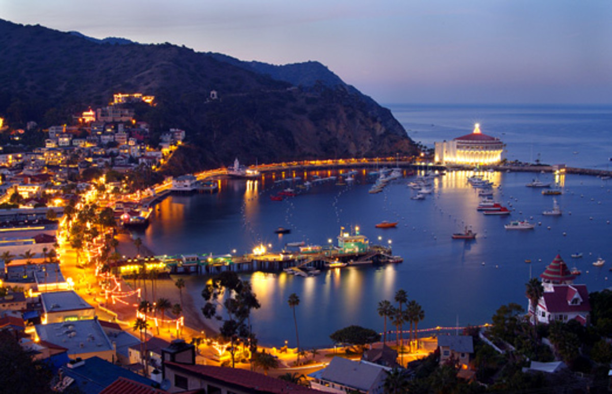 Catalina Island at night