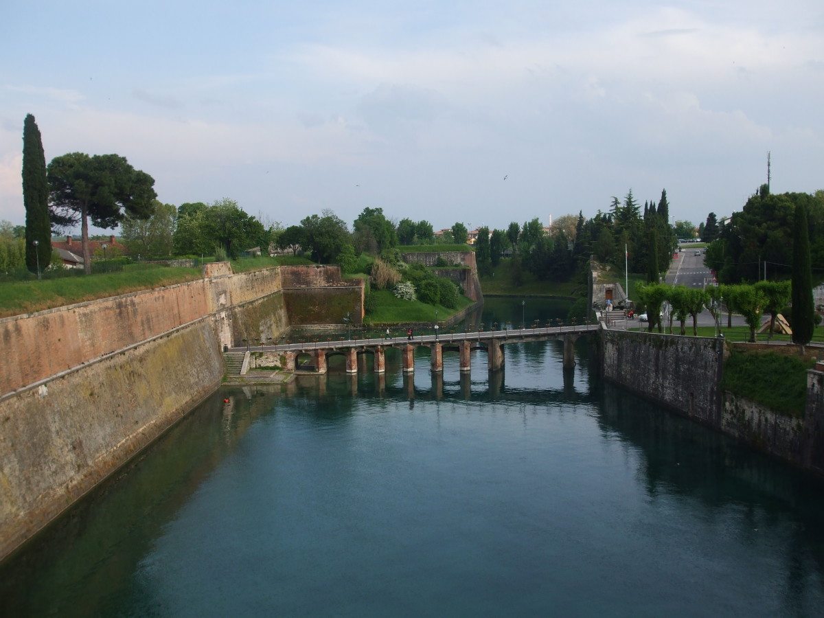 The Old Fortifications and the Moat in Peschiera