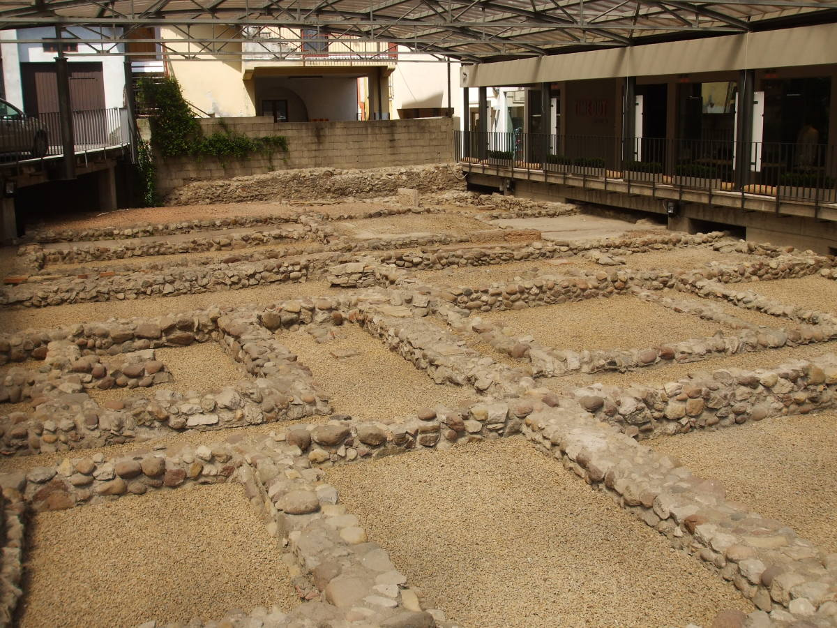 Ancient Roman remains on display at the archaelogical site