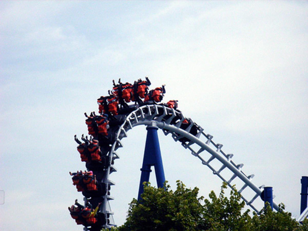The Blue Tornado at Gardaland