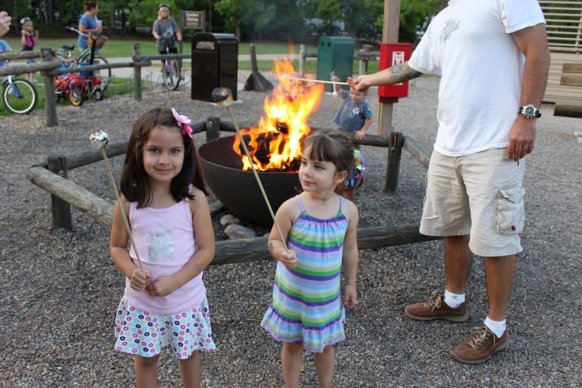 Fort Wilderness evening campfire.