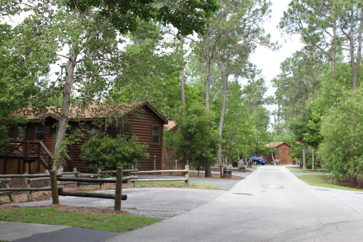 "One of the Fort Wilderness cabin ""loops"""