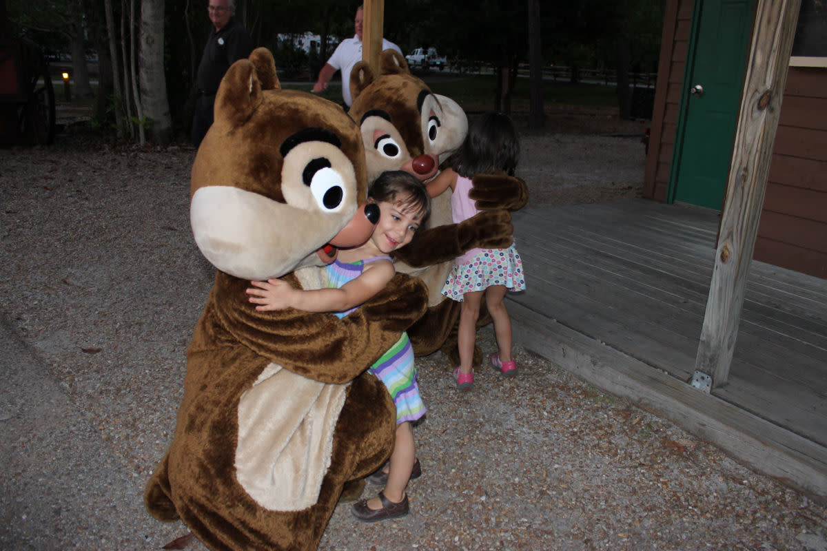 Private meet-n-greet with Chip & Dale right before the sing-a-long.