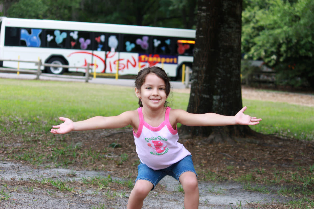 See the Disney bus in the background?  They go all over the property to take you where you need to go.