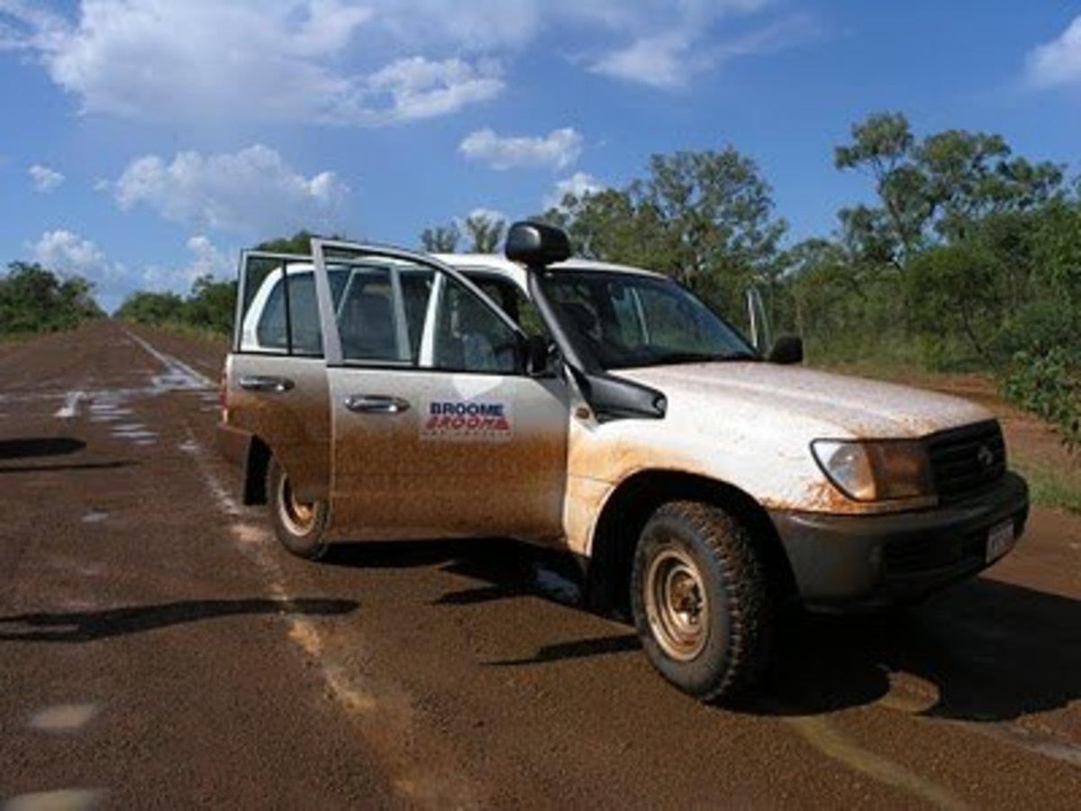 That's a muddy car, mate!