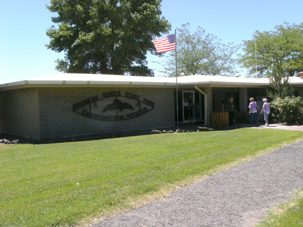 The visitors center near the campground