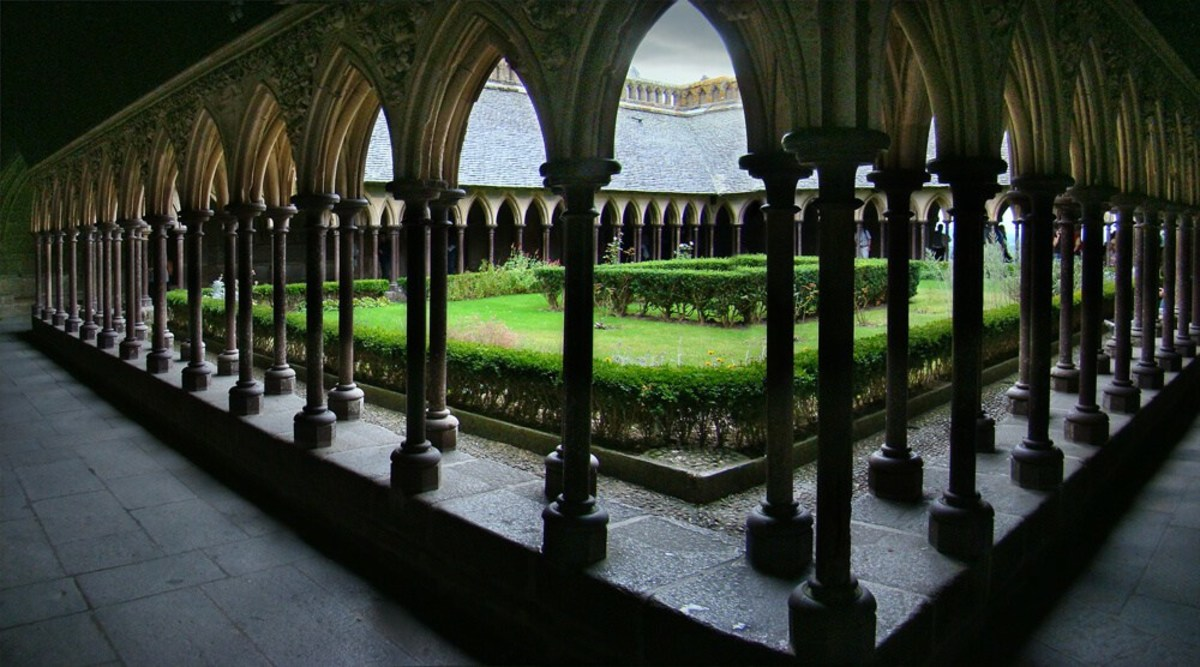 The cloister at Mont Saint Michel