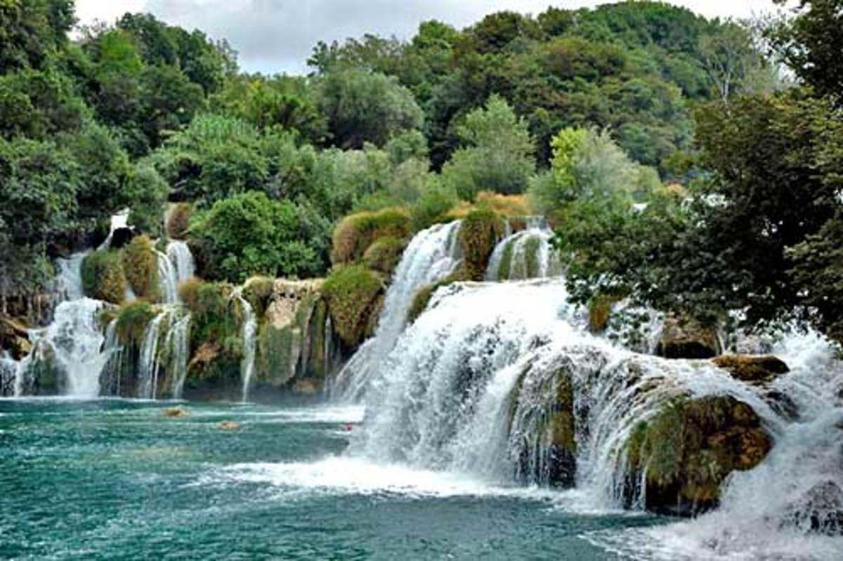 Waterfalls beckon in the Sibenik Islands of Croatia