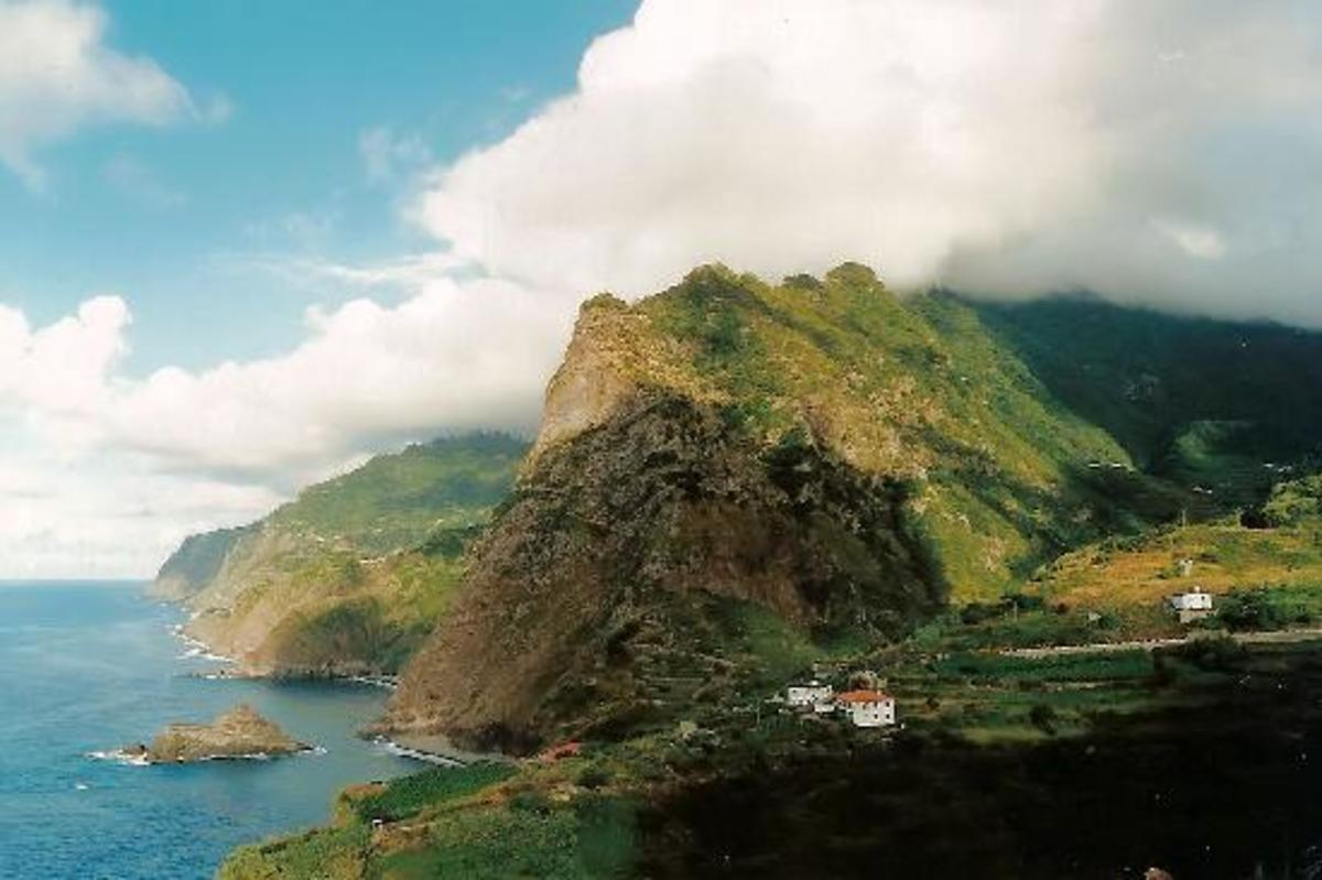 The north coast of Madeira