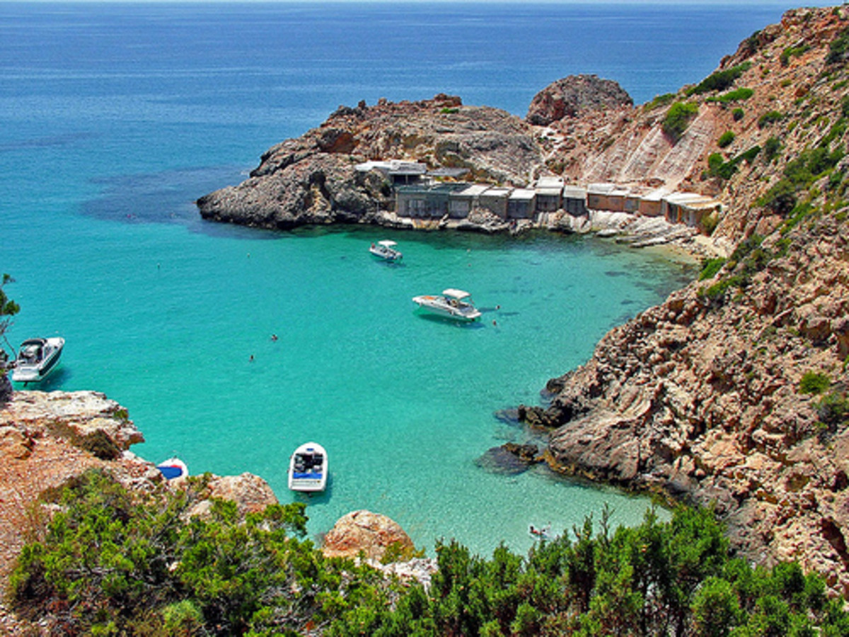 One of the gorgeous bays of Ibiza