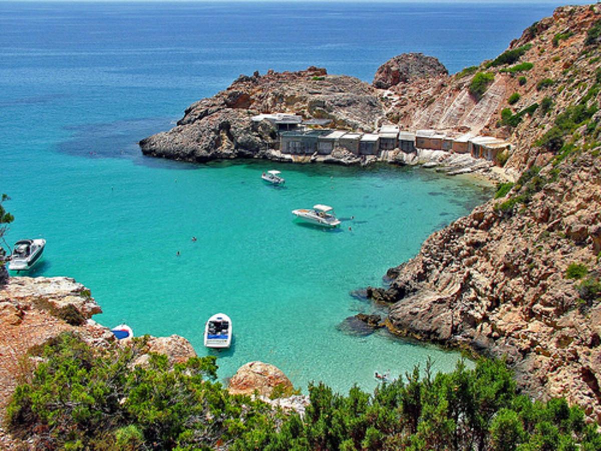 One of the gorgeous bays of Ibiza