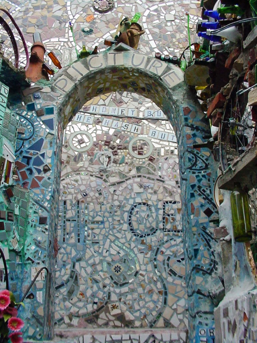 Mosaic covered archwas
