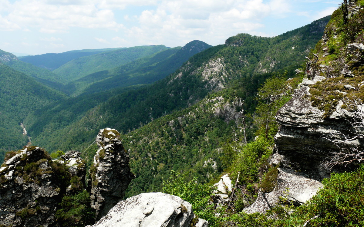 Linville Gorge in the Pisgah National Forest.