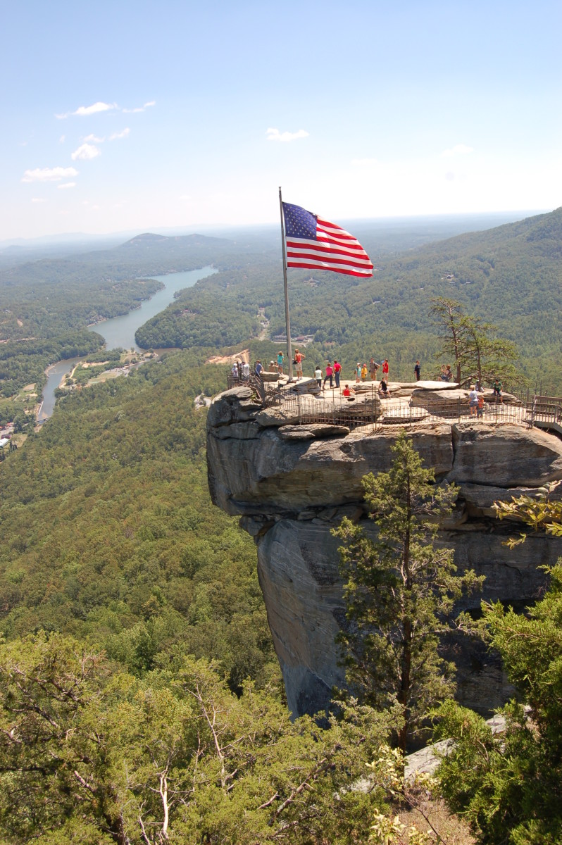 Chimney Rock is accessible by elevator as well as by walking trail.