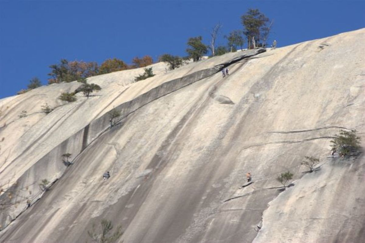 Stone Mountain offers great rock climbing opportunities.