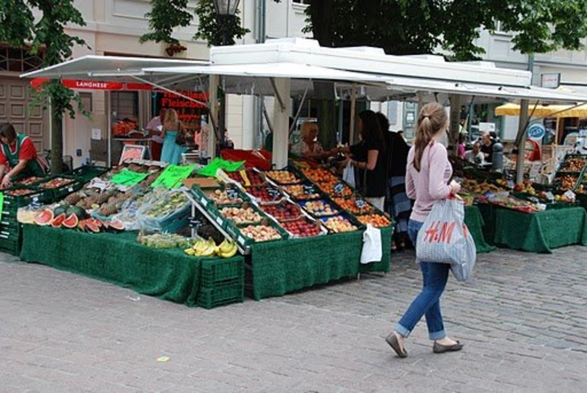 Shopping at local markets is great fun!