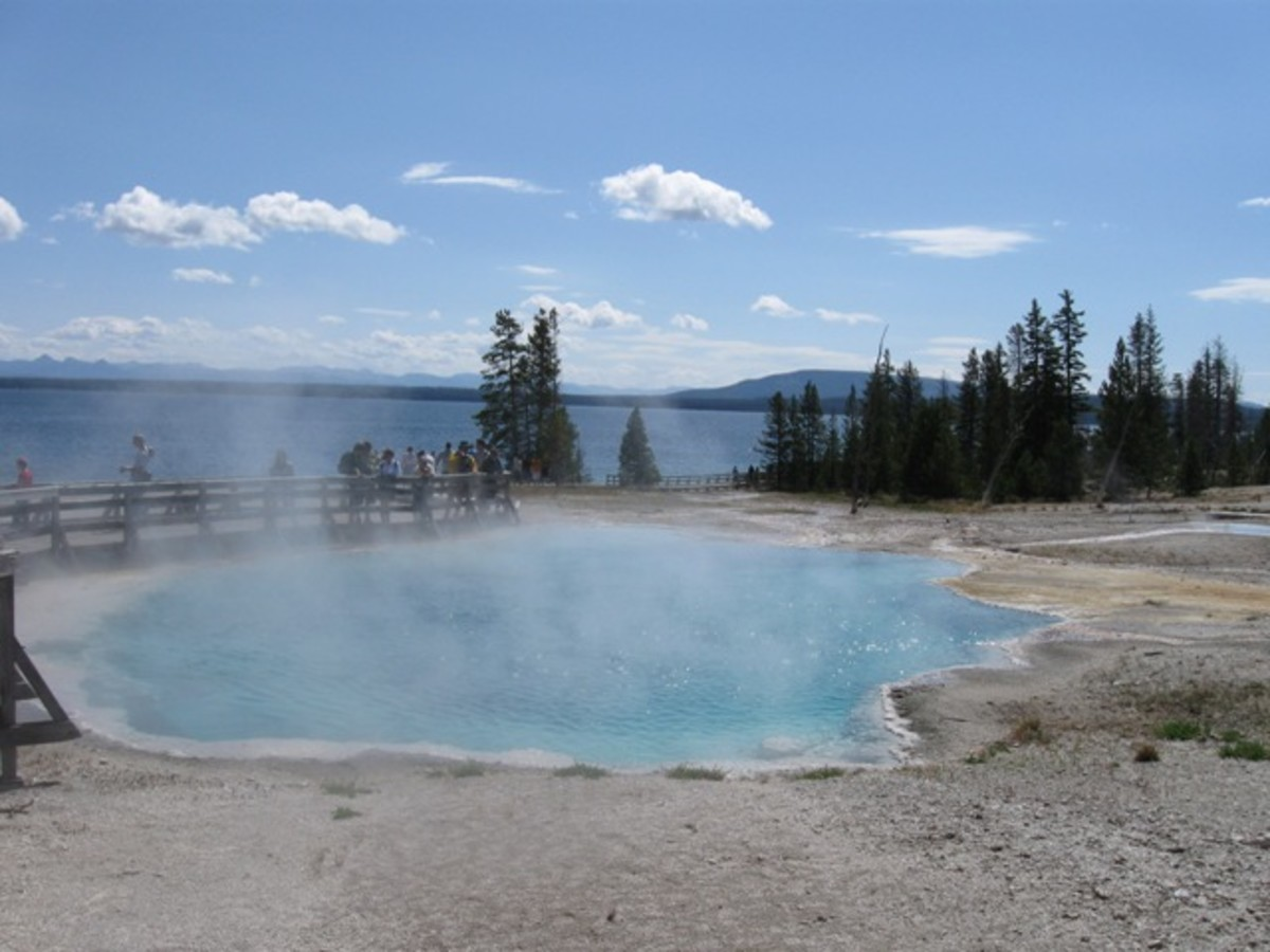 West Thumb Area in Yellowstone National Park