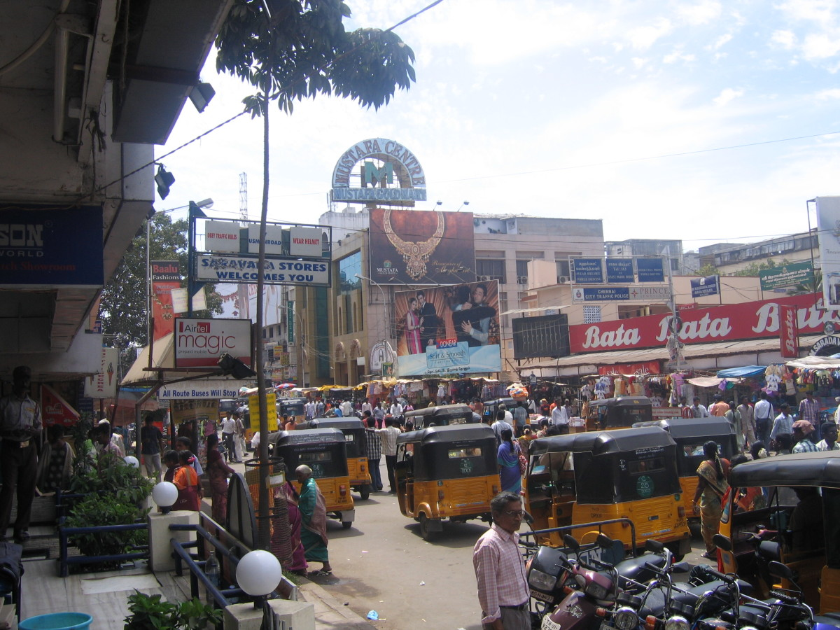Theagaraya Nagar, or T. Nagar, is one of the principal shopping districts in Chennai.