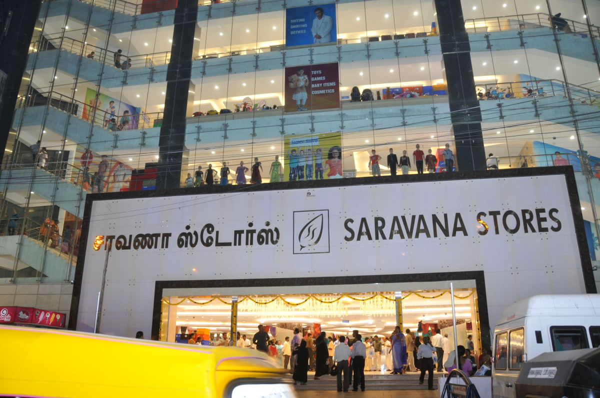 Saravana Super Stores, a chain of retail stores with cheap prices and not-so-great customer service.