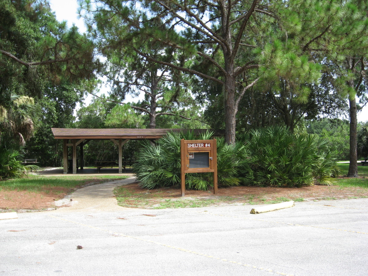 A covered picnic area at Howard Park.