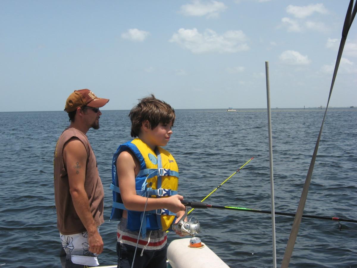 Flats fishing off Port Richey.