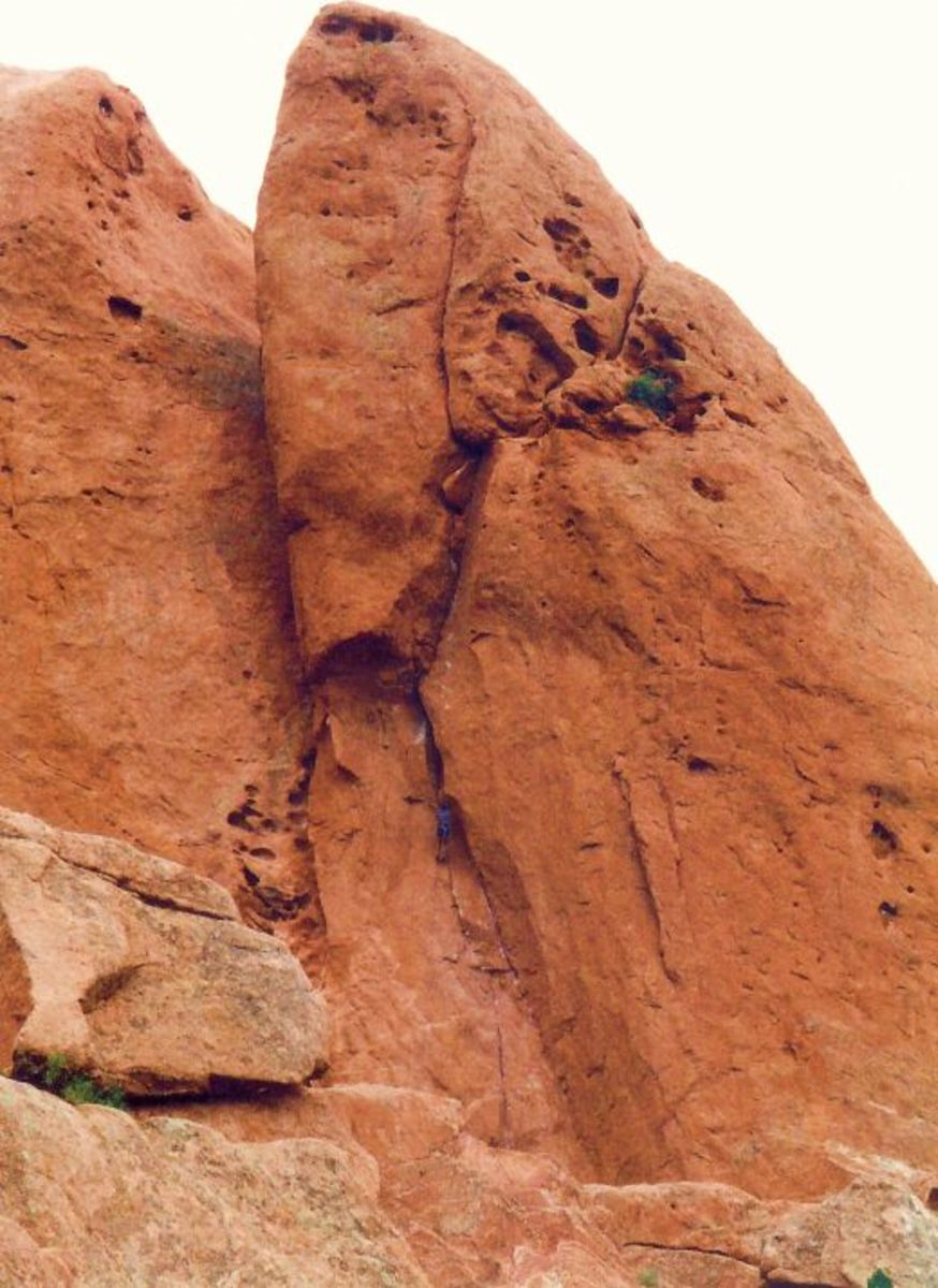 Can you spot the rock climber in Garden of the Gods?