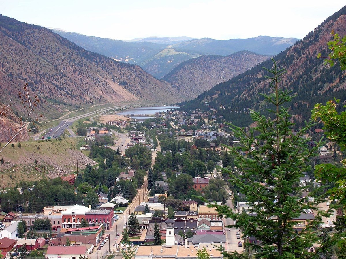 Looking north over Georgetown, Colorado