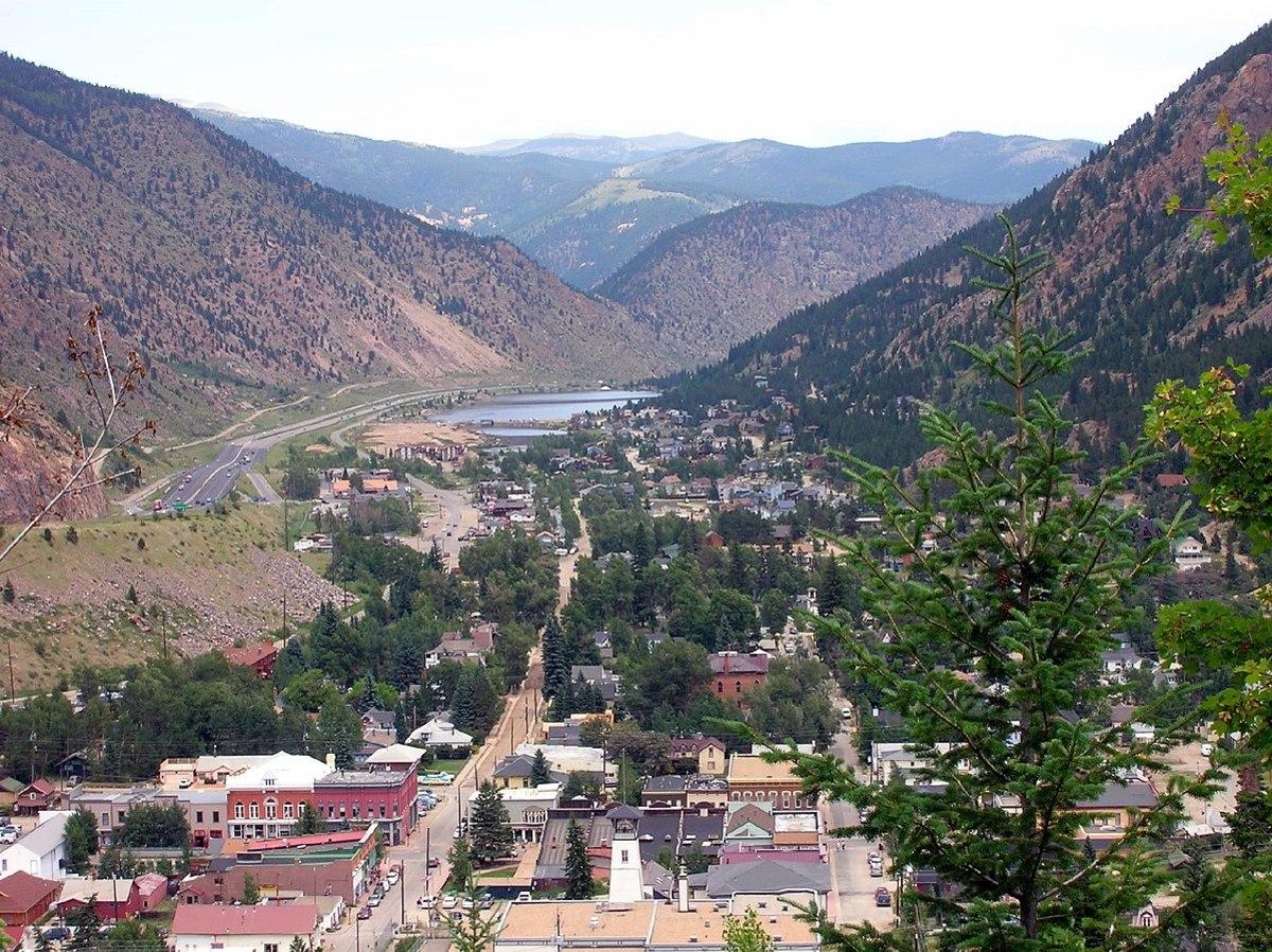 Looking north over Georgetown, Colorado