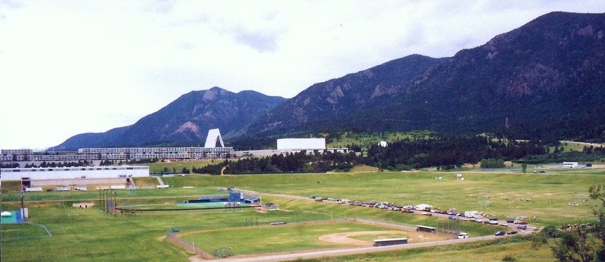 Closer view of the Air Force Academy buildings as we were approaching