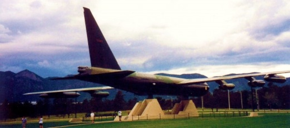 B-52 Bomber on Air Force Academy grounds