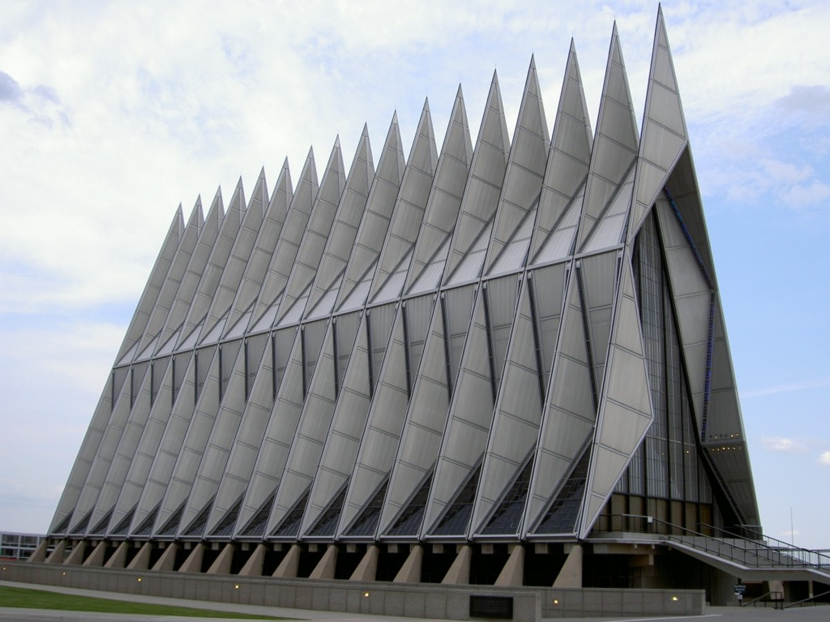 The Cadet Chapel at United States Air Force Academy, Colorado Springs