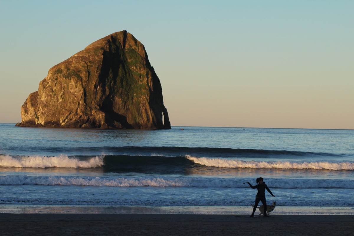 Cape Kiwanda is a stunning beach about 30 minutes away from Lincoln City.