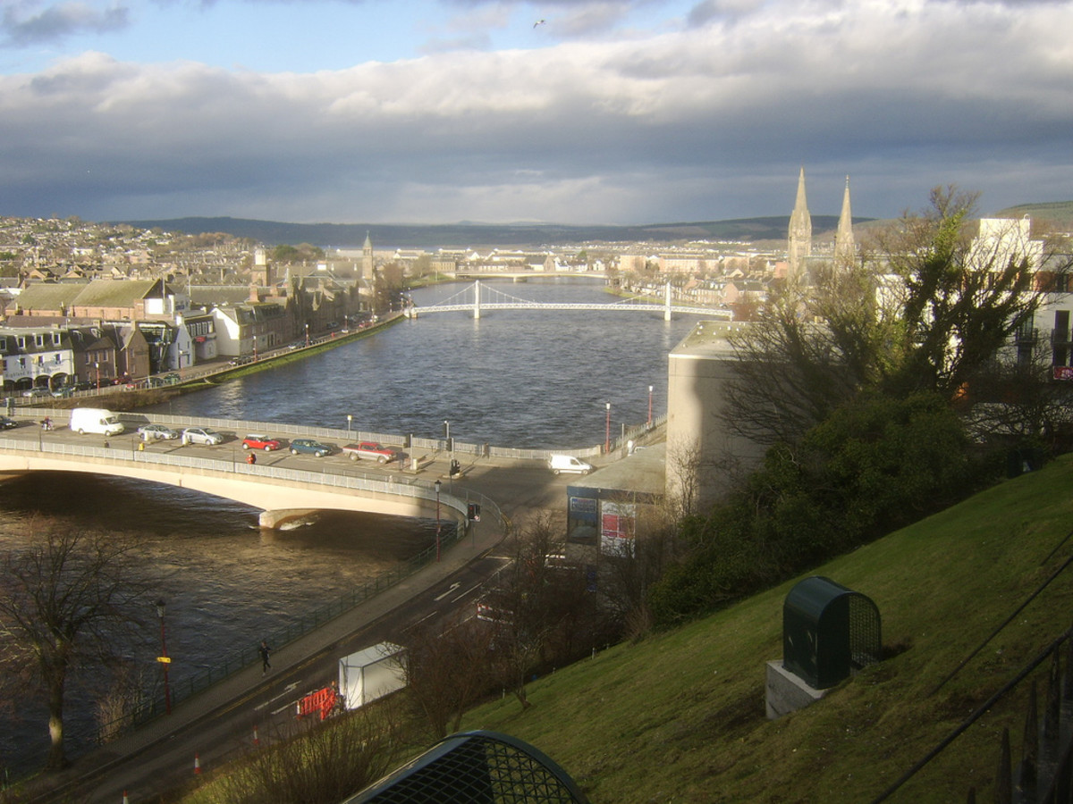The River Ness flowing through Inverness