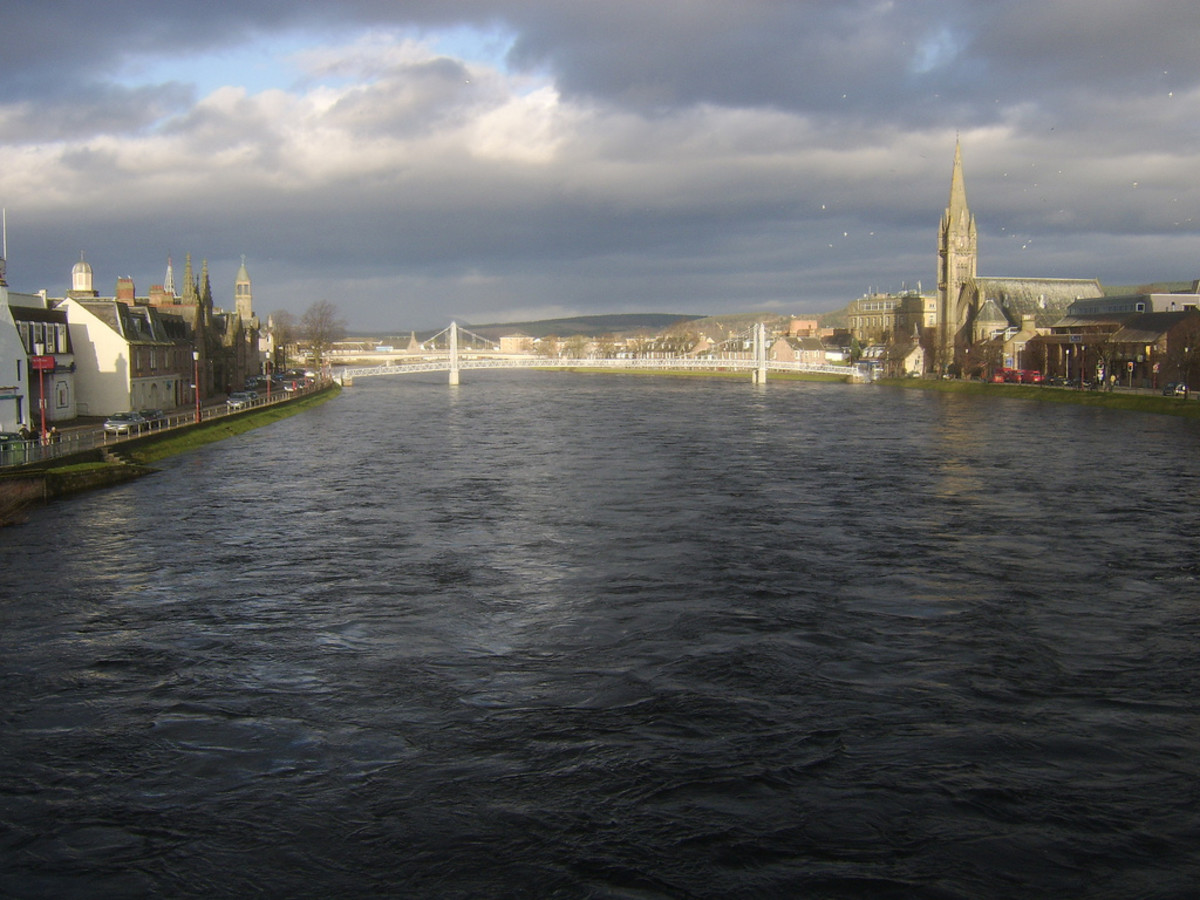 Storm Clouds gather over Inverness and the Moray Firth