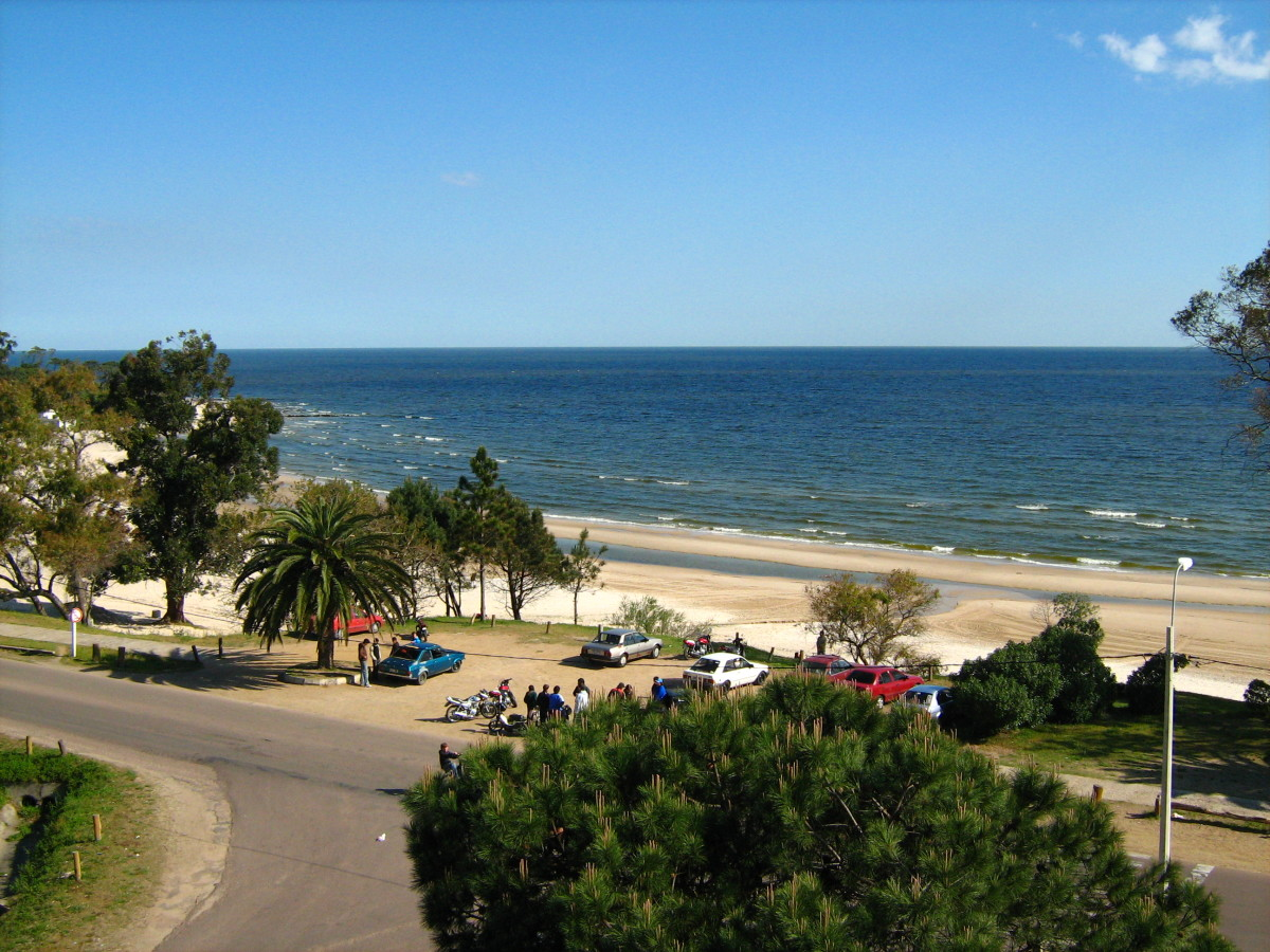 Playa Mansa from the Planeta Palace Hotel, Atlantida, Uruguay