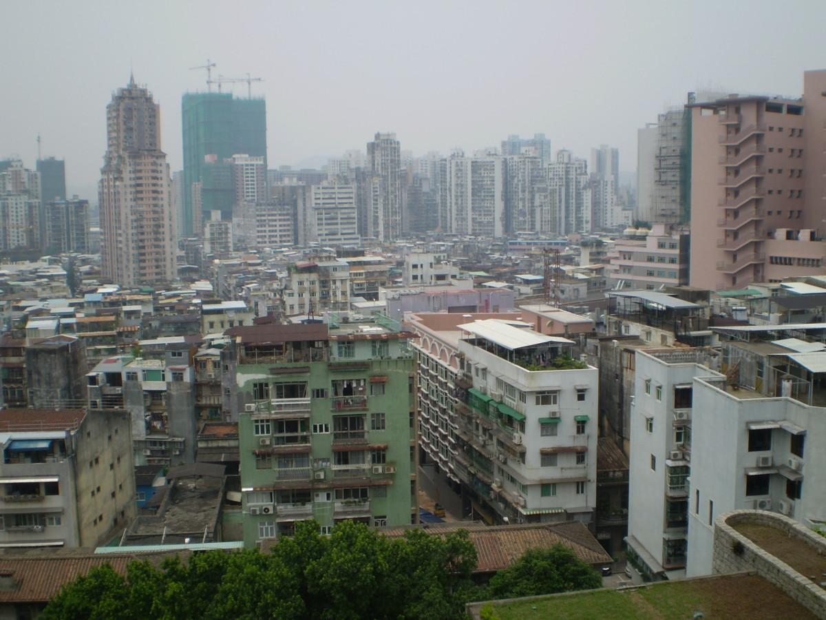Macau cityscape.