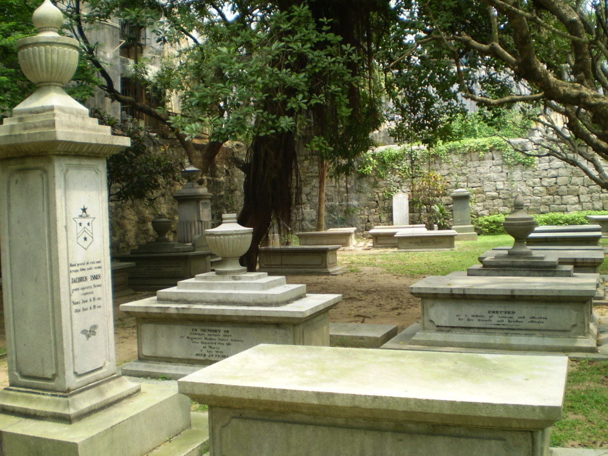 English (Protestant) cemetery behind Macau Protestant Chapel.