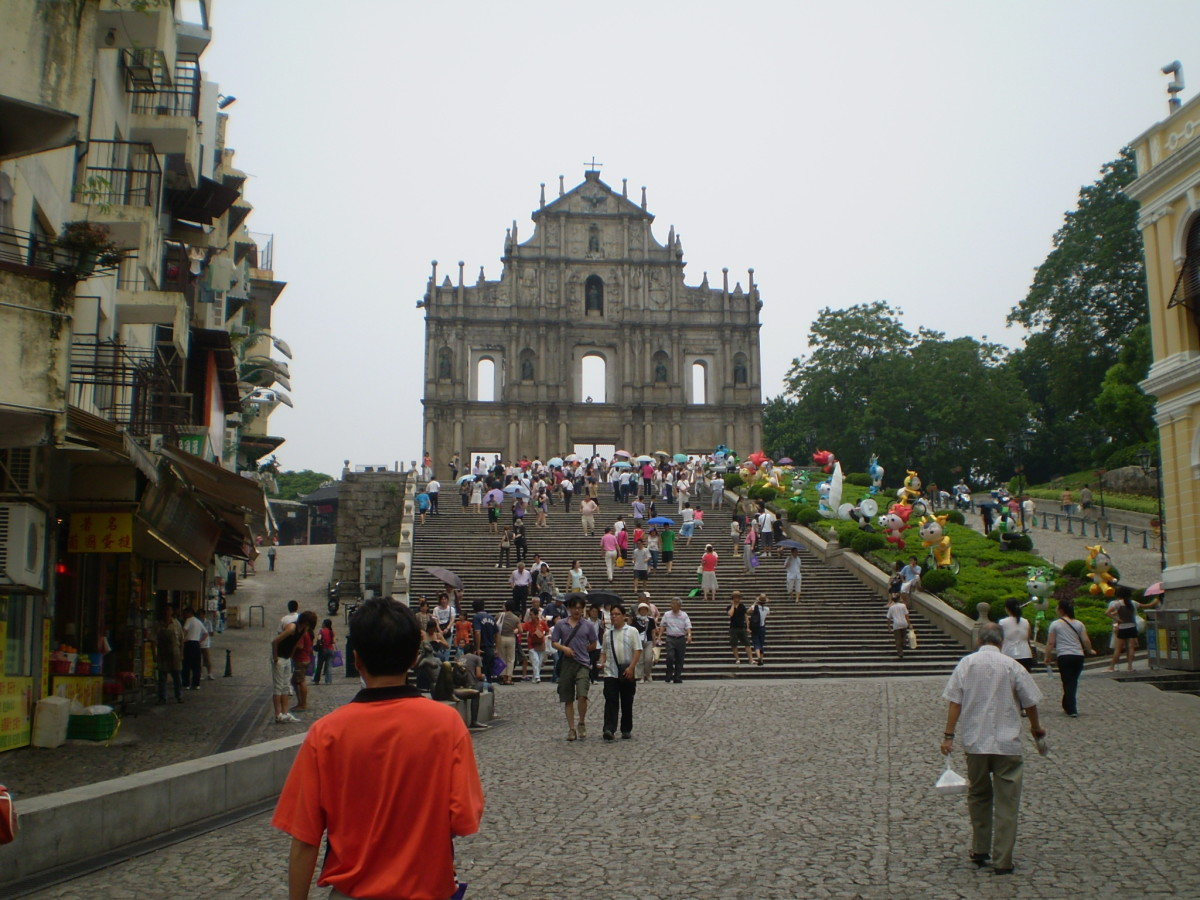 Sao Paulo ruins. The symbol of Macau.