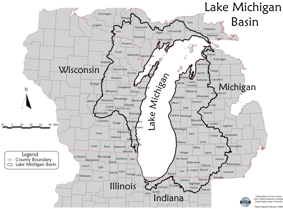 Where the water comes from:  the Lake Michigan drainage basin