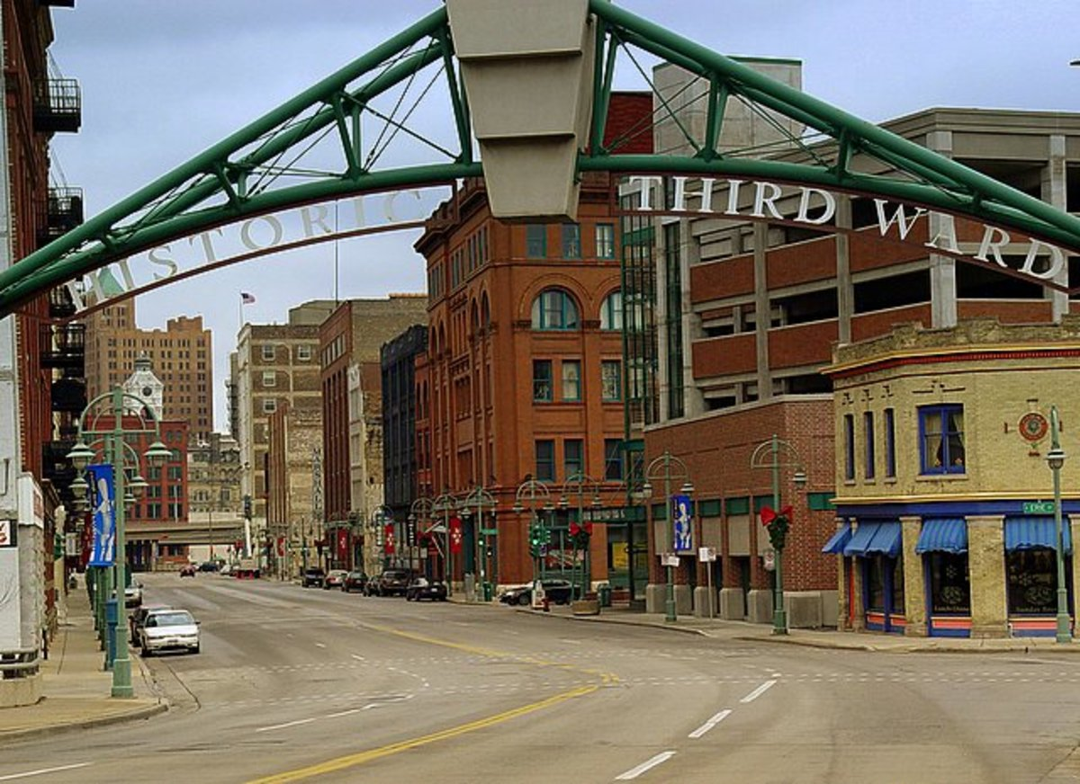 Entrance to the historic Third Ward of Milwaukee, Wisconsin