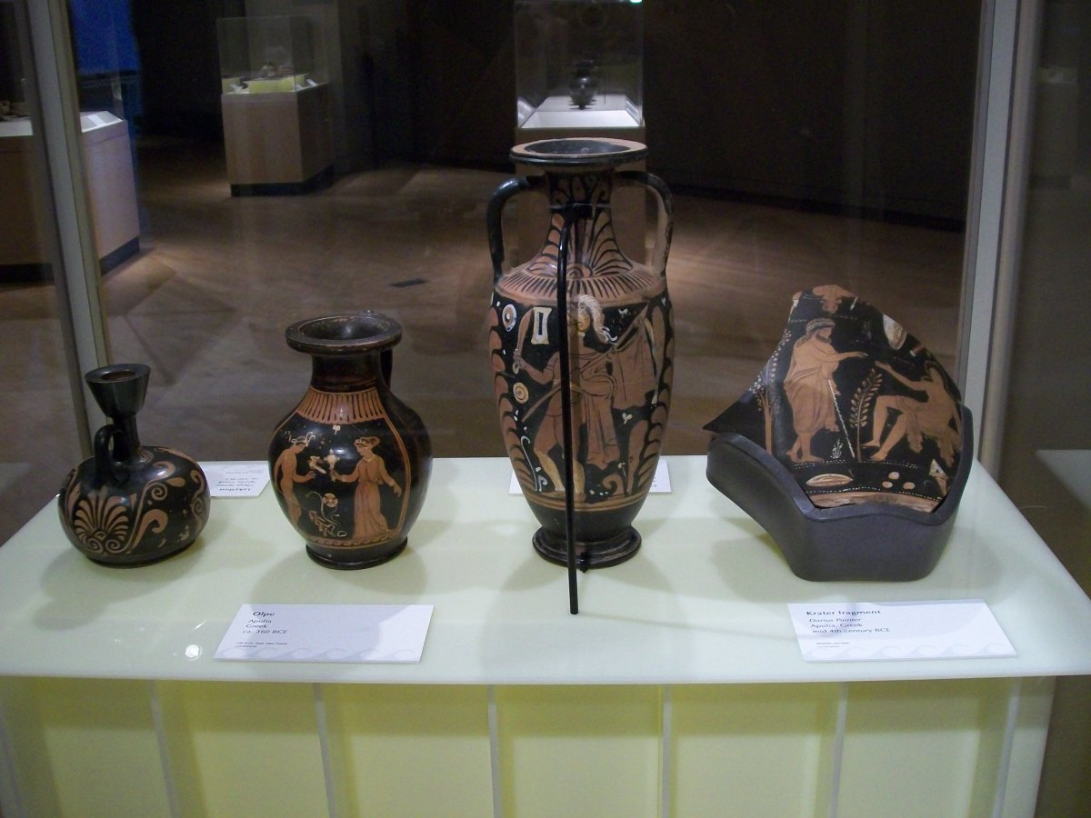 An exhibit on display in the Gallery of World Cultures at the Sam Noble Oklahoma Museum of Natural History in Oklahoma City.