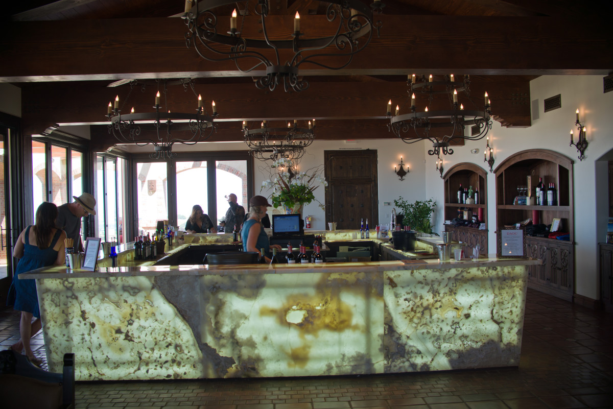 The tasting room at Daou Winery, on of the many vineyards in the Paso Robles wine country.